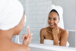 Normale Haut pflegen