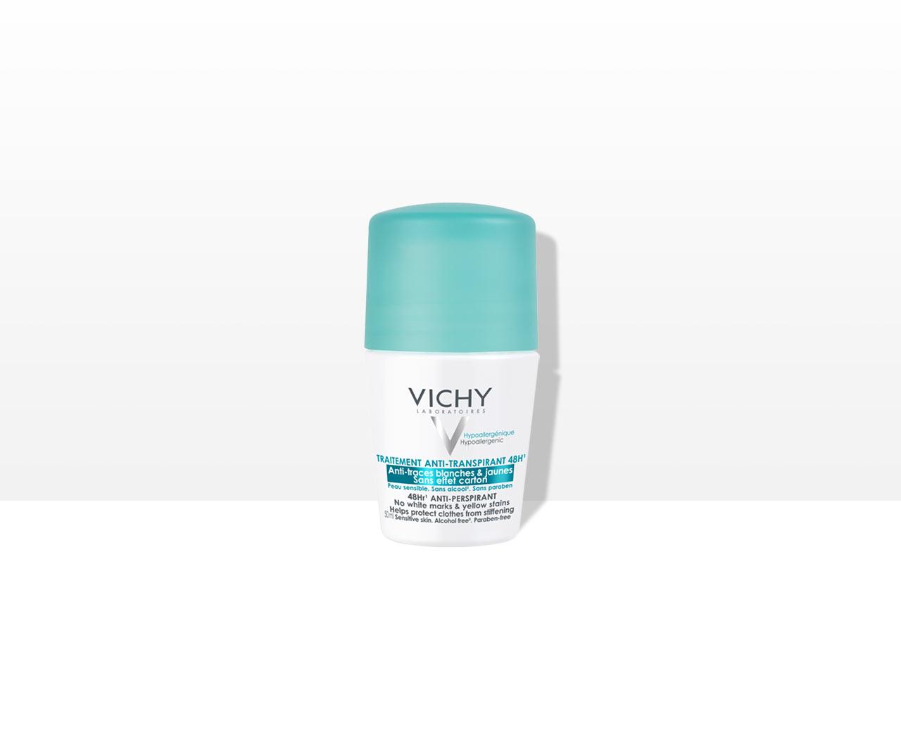 Deodorant Roll-On Anti-Transpirant 48 h, Anti weiße & gelbe Flecken, Anti-Verhärtungseffekt.
