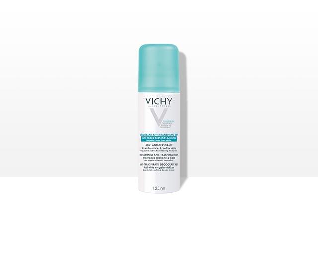 Déodorant spray-aérosol anti-transpirant 48h anti-tâches
